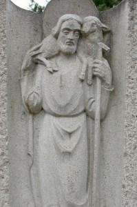 Christophorus Schutzpatron aus Stein