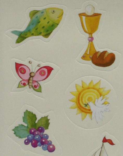 Kommunionsymbole als Sticker