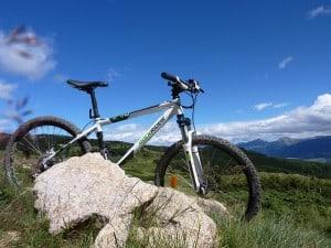 Mountain Bike in den Bergen